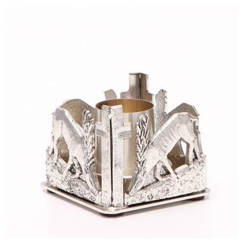 Chandelier bronze argenté cerfs s3