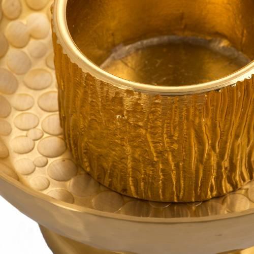 Chandelier d'autel laiton doré martelé s2