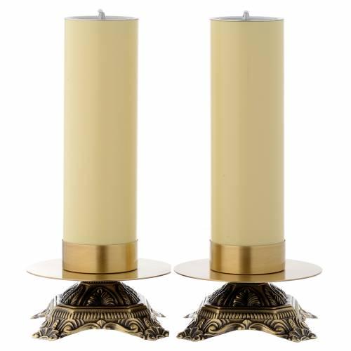 Chandeliers d'autel laiton, base basse 1