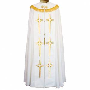 Chapes, Chasubles Romaines, Dalmatiques: Chape 100% polyester croix