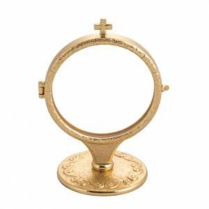 Chapel monstrance in brass for big host s1