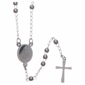 Chapelets en métal: Chapelet classique couleur silver acier 316L