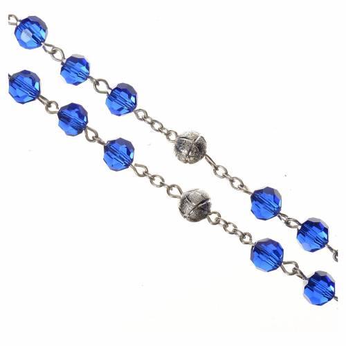 Chapelet cristal bleu 8 mm s3