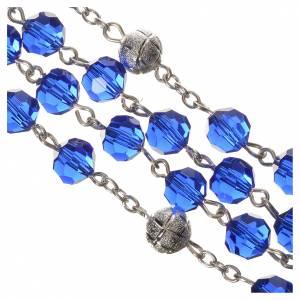 Chapelet cristal bleu 8 mm s4