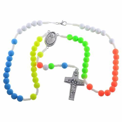 Chapelet fimo multicolore Pape François s3