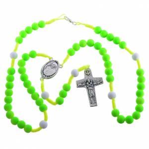 Rosaires de dévotion: Chapelet fimo vert Pape François