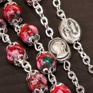 Chapelet Ghirelli verre décoré rouge s4