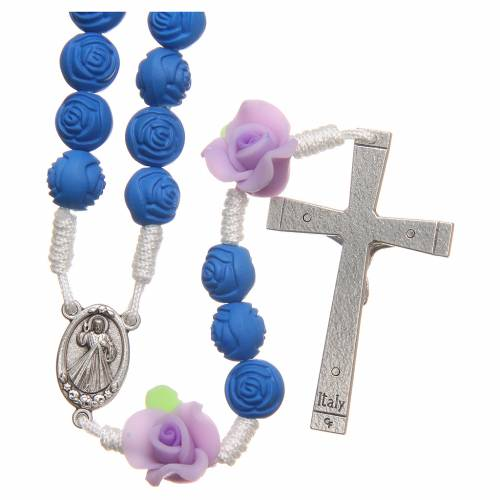 Chapelet Medjugorje petites roses bleues s2