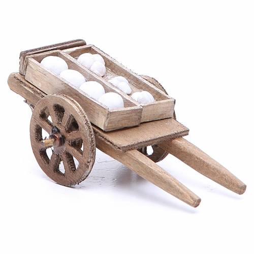 Charrette boulanger 5x11x5 cm crèche Naples s2