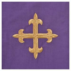 Chasuble 100% laine IHS décor épis et raisin s16