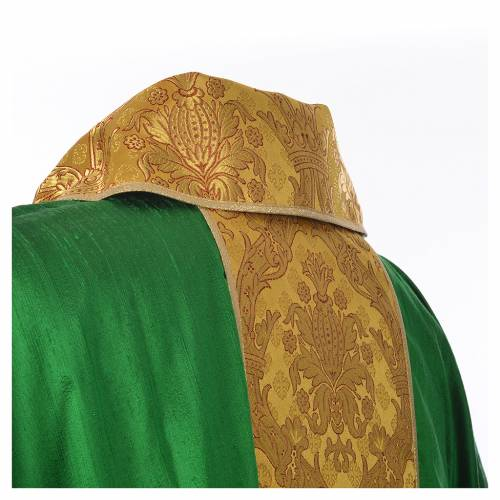 Chasuble 100% silk decorated in gold s11