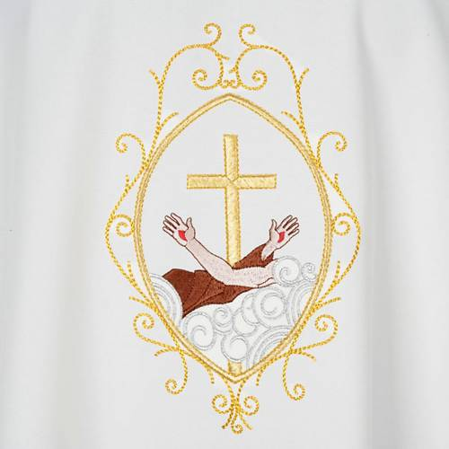 Chasuble and stole, cross and hands s7