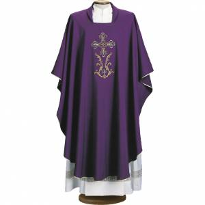 Chasuble broderie croix 4 couleurs s1