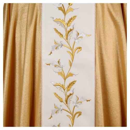 Chasuble dorée avec épis 95% laine 5% lurex s4