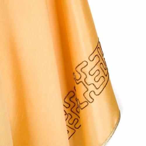 Chasuble dorée shantung croix stylisée s4