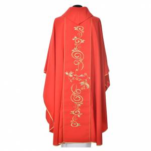 Chasuble in 80% polyester 20% wool, IHS golden embroidery s8