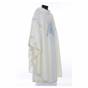 Chasuble in polyester with Marian symbol embroidery s4