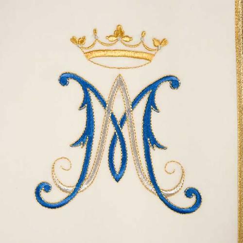 Chasuble Mariale Vierge Marie et symbole 100% laine peinte s3