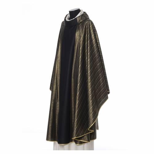 Chasuble noire 100% pure laine double retors Tasmania s2