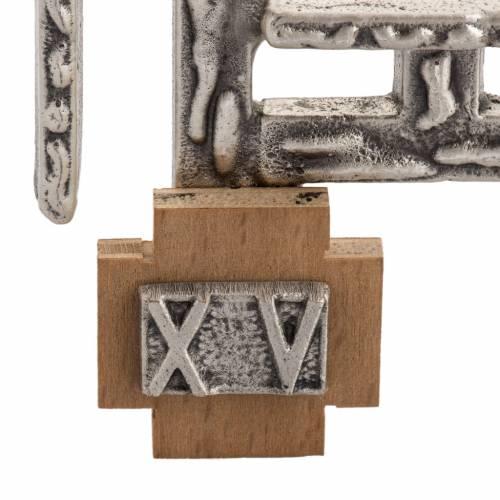 Chemin de Croix 15 stations bronze argenté petite croix s4