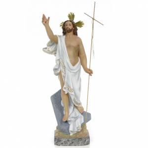Statues en bois peint: Christ Ressuscité 40 cm fin. supérieure pâte à bois