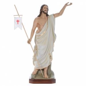 Statues en fibre de verre: Christ Ressuscité fibre de verre peint 130cm