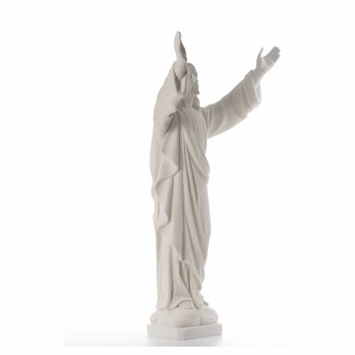 Christ the Redeemer, reconstituted Carrara Marble statue s4