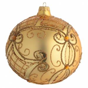 Christmas Bauble gold, matte base 15cm s2