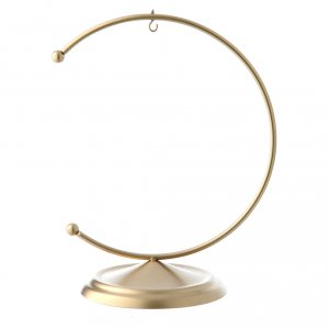 Christmas balls: Christmas bauble hook in gold metal 100 mm