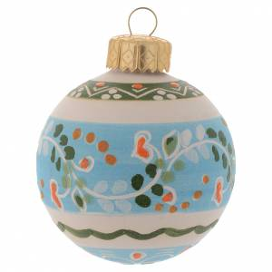 Christmas tree ornaments in wood and pvc: Christmas bauble in terracotta 60 mm