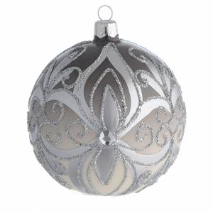 Christmas Bauble silver 10cm s1