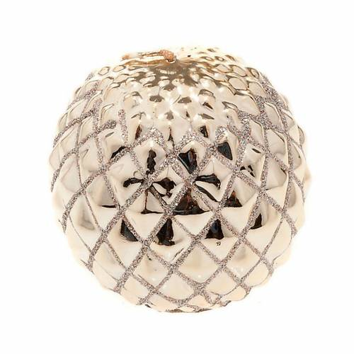 Christmas decoration candle sphere diamonds gold s1