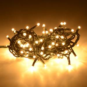 Christmas lights: Christmas lights 100 mini lights, fair white for indoor use