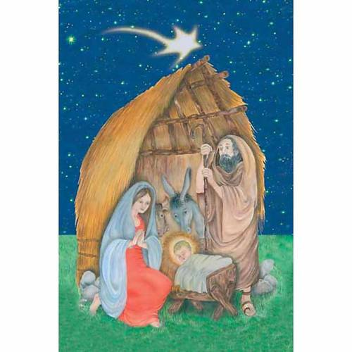 Christmas Stable holy card s1
