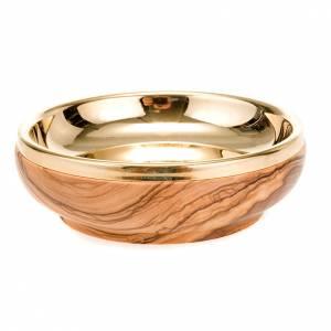 Ciboire,bois d'olivier,diamètre 11 cm s2