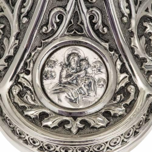 Ciboire Molina laiton argenté Marie Jésus Joseph s4