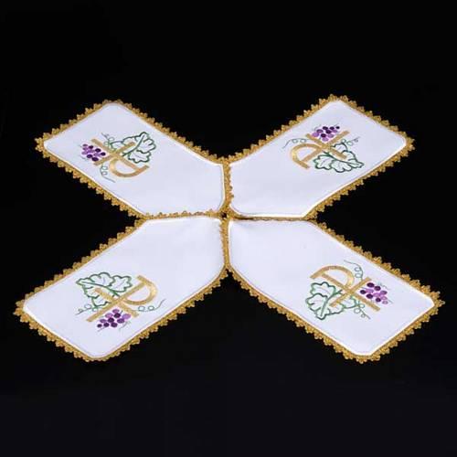 Ciborium veil, cross shaped Chi-Rho symbol s3