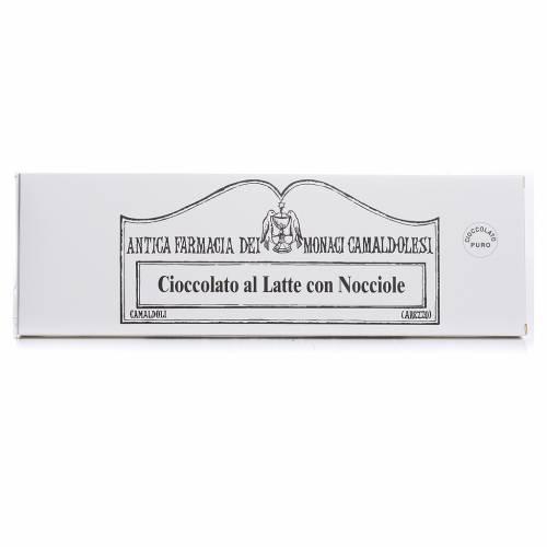 Cioccolato al latte con nocciole 250 gr Camaldoli s1