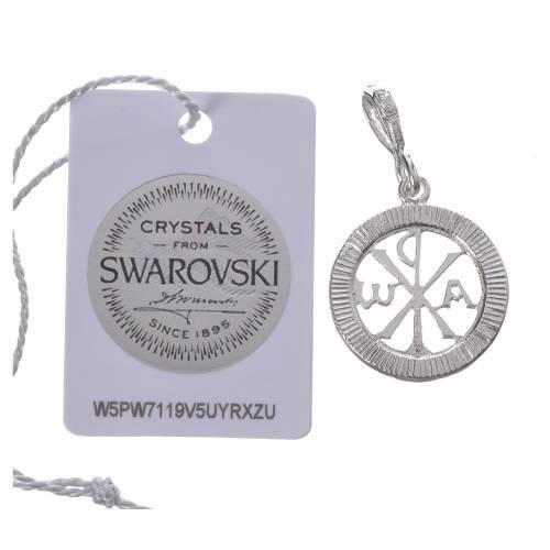 Ciondolo argento 800 e Swarovski nero s2