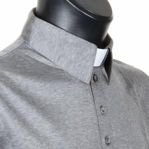 Clergy polo shirt light grey lisle thread s5