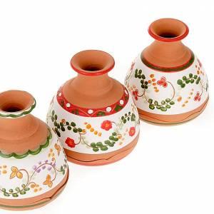 Clochette vase Nativité terre cuite s4