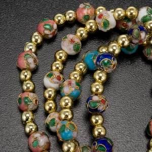 Cloisonné bracelet with image s3