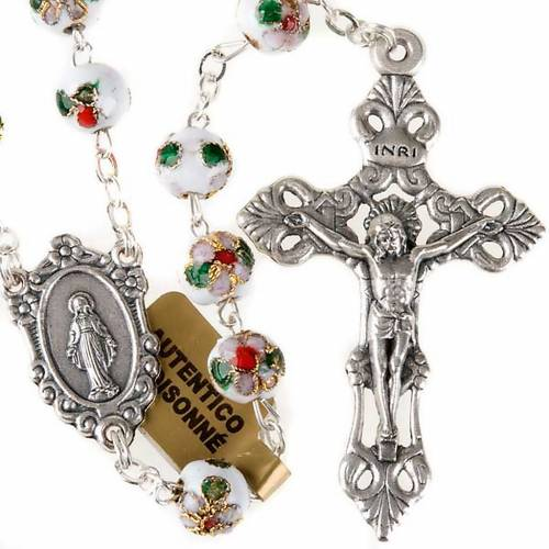 Cloisonné rosary with round 8mm beads s1