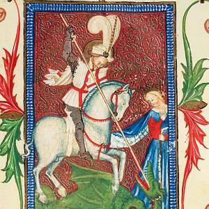 San Giorgio codice miniato s2