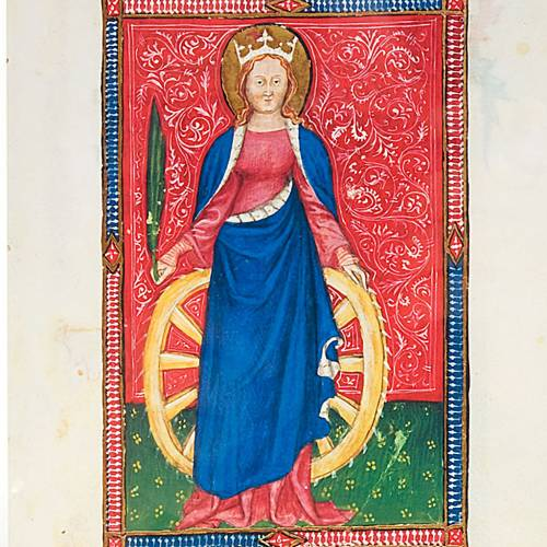 Santa Caterina d'Alessandria codice miniato s2