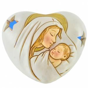 Coeur avec LED Maternité 7 cm s1