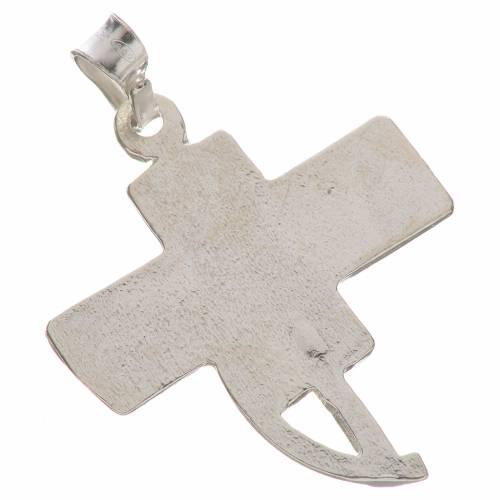 Colgante con cruz de los diáconos en plata 800 s2