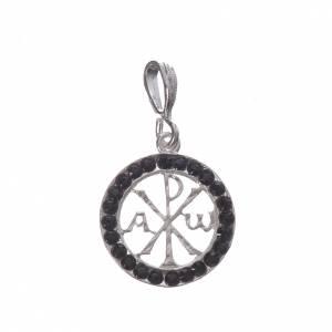 Colgantes, cruces y broches: Colgante plata 800 y Swarovski negro