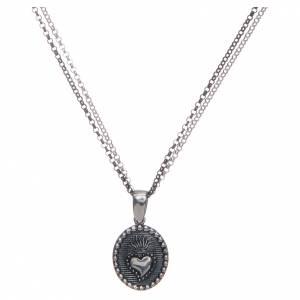 Pendenti, croci, spille, catenelle: Collana Amen sacro cuore argento