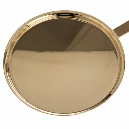 Communion plate in polished brass s2